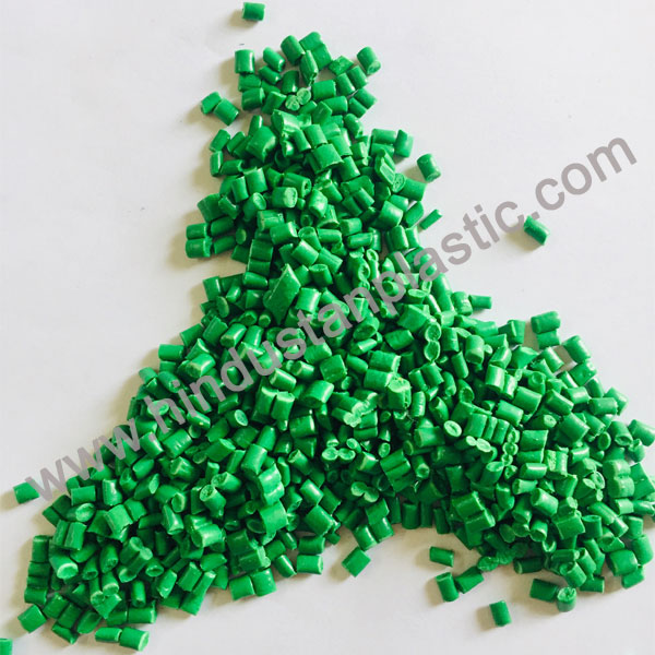 Green PP Color Granules In Directory Place